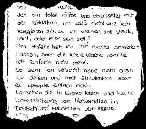 Ein Brief für eine Freundin